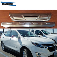High quality Stainless steel Front +Rear Bumper Skid Protector Guard Plate For 2018 Equinox