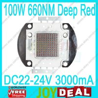 Freeshipping 100W Deep Red 660NM High Power Plant Grow Multichip LED Light DC22 24V 3A 6000LM