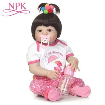 56CM Lifelike Princess Kids BebeToy Full Silicone Vinyl Reborn Baby Doll Realistic Girl newborn babies Dolls Baby Girks Gifts
