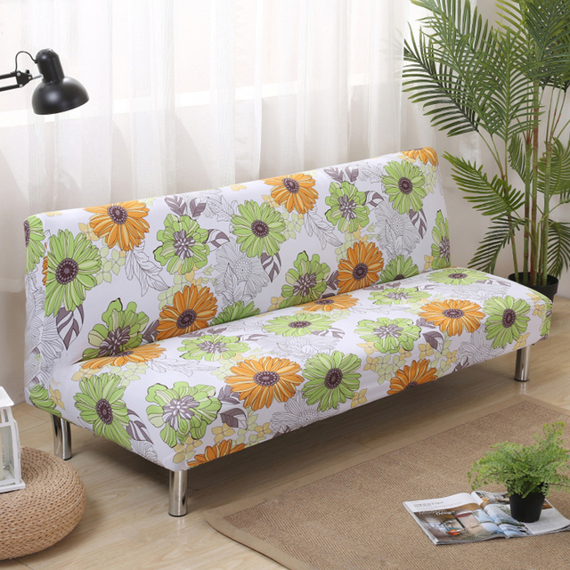 Folding Sofa Covers Elastic No Hand Sofas Cover Printed Sunflower Cover For  Sofas Bed Covers