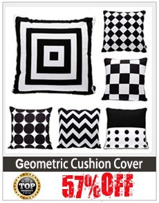 white and black cushion cover