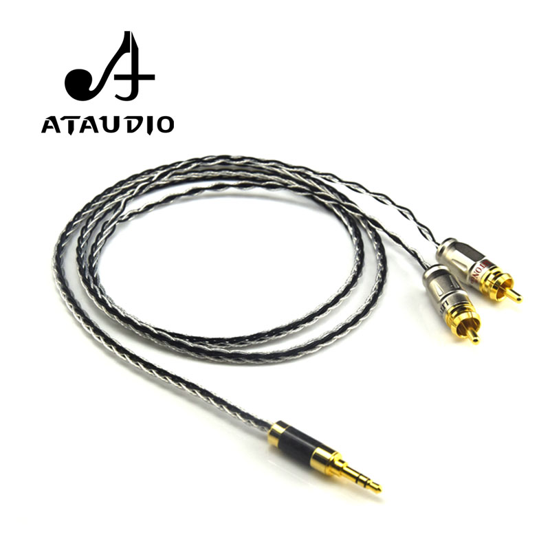 aliexpress com   buy ataudio silver plated 3 5mm stereo to
