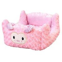 Pink Color Pet Dog House Soft Material Pet Nest Princess Style Puppy Bed Small Dog Cat