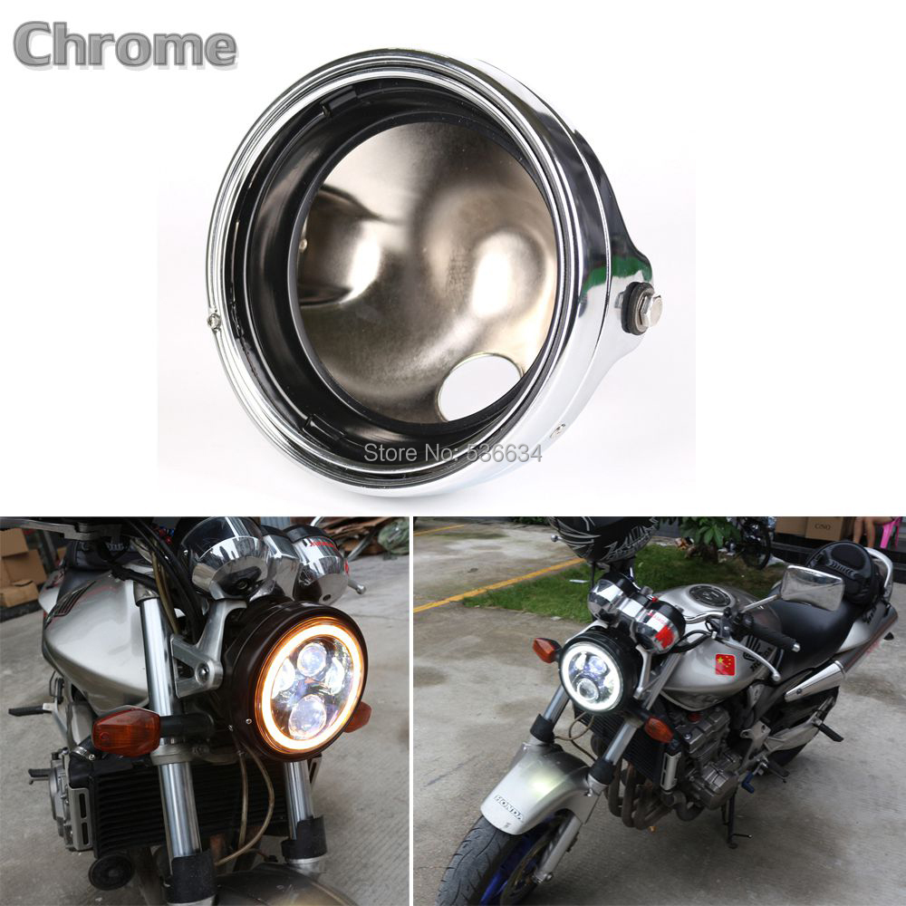 7 Inch Round Headlight Ring Mounting Bracket For Yamaha V star 650 Classic,  Harley Road King usb3 0 round type panel mounting usb connecter silver surface