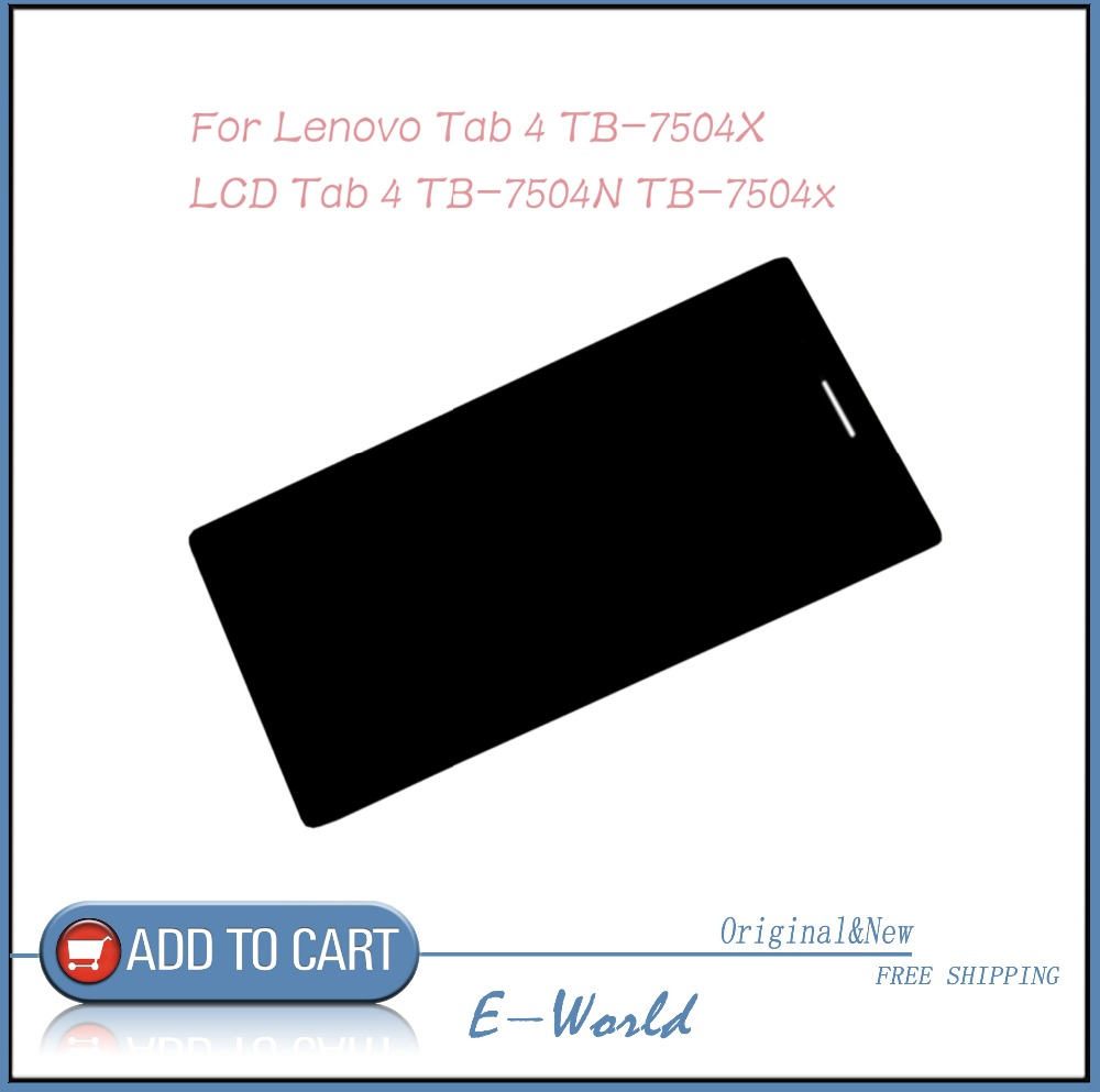 Original LCD screen with Touch screen for <font><b>Lenovo</b></font> <font><b>Tab</b></font> <font><b>4</b></font> <font><b>TB</b></font>-<font><b>7504X</b></font> <font><b>TB</b></font>-7504N <font><b>TB</b></font>-7504 Tablet PC free shipping image