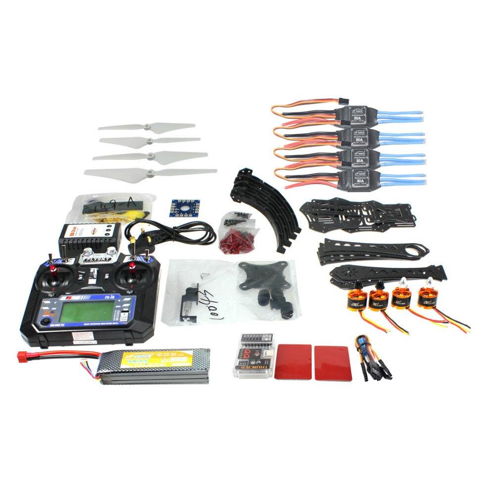 F14893 O Full Kit DIY RC Drone Quadrocopter X4M380L Frame Kit QQ Super TX Gimbal