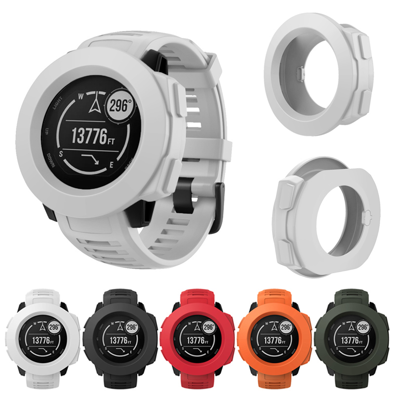 Smart Watch Silicone Case Cover Frame Protective Shell Guard For Garmin Instinct SD998