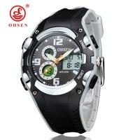 OHSEN-relojes deportivos de cuarzo Digital para niños, pulsera de reloj de pulsera de regalo, resistente al agua 30M, color negro