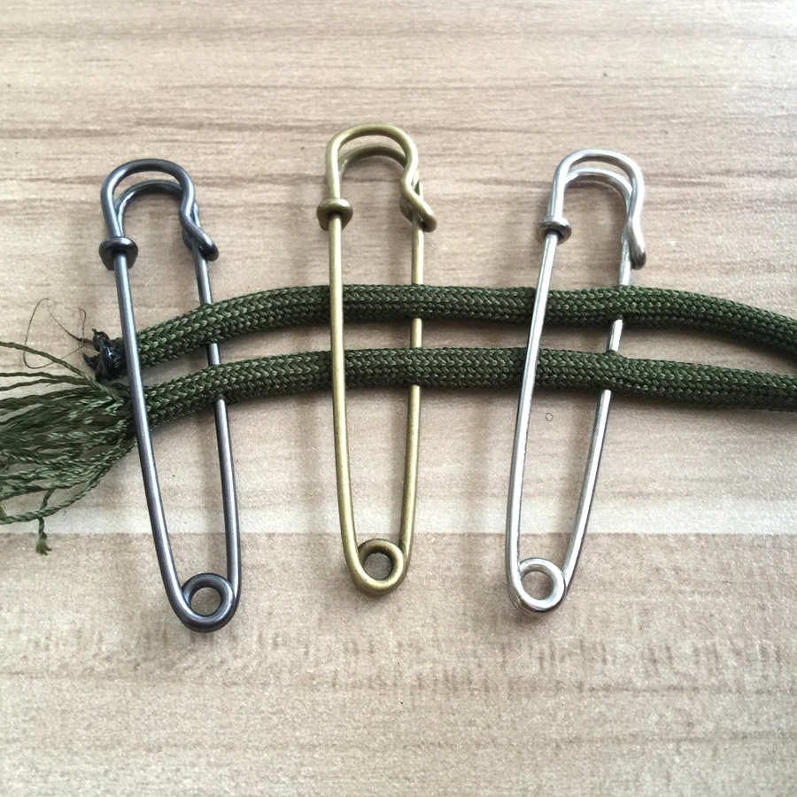 5pcs/lot EDC Outdoor tools Safety Pins Brooch Blank Pin Broochs Survival Accessories Travel Kit