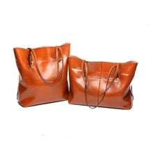 Frauen Tasche Aus Echtem Leder Handtasche Lässig frauen Tote Mode Berühmte Marke Große Kapazität Vintage Schulter Umhängetasche