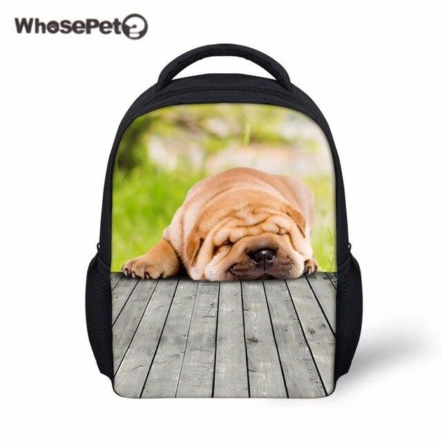 b8a626f24e WHOSEPET Cute Sleeping Dogs Mini Backpacks For Girls Boys Fashion  Schoolbags Casual Book Bags Kids Fashion Rucksack School Bag