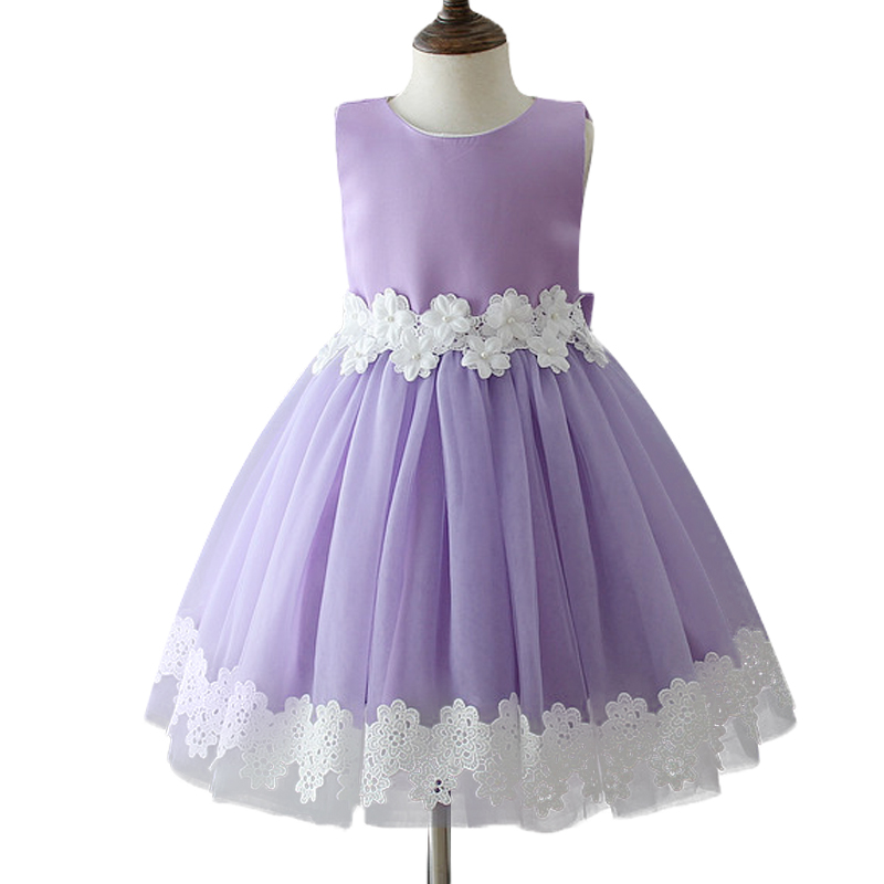 Online Shop 3-10 year Girls summer Dress Solid color simple leisure ...