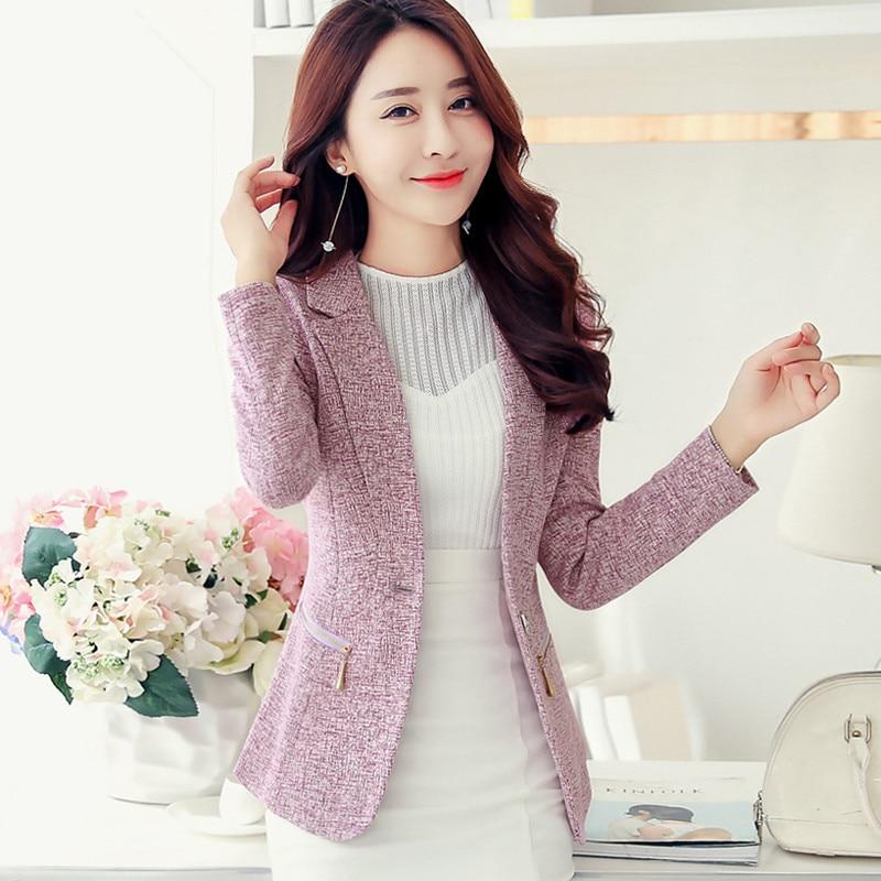 봄 가을 재킷 블레이저 여성 슬림 긴 소매 작은 정장 재킷 플러스 크기 3xl 블레이저 feminino 여성 자켓 코트 c2823-에서블레이저부터 여성 의류 의  그룹 1