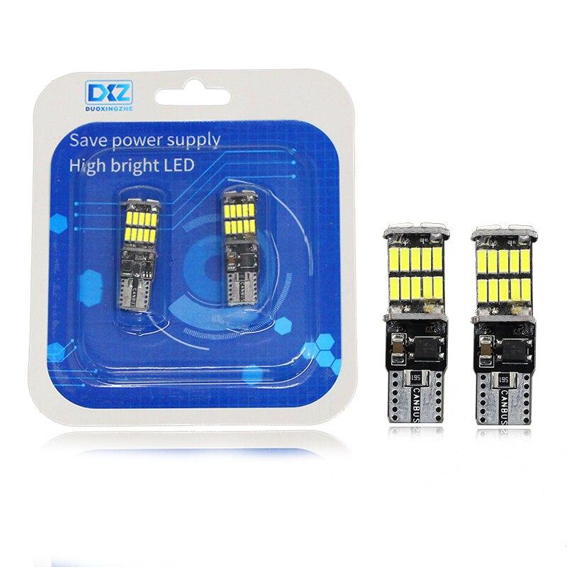 DXZ 2 шт. t10 w5w canbus автомобильный интерьерный свет 194 501 led 26 4014 инструмент SMD лампа купол свет без ошибки 12В 6000K|Сигнальная лампа|   | АлиЭкспресс