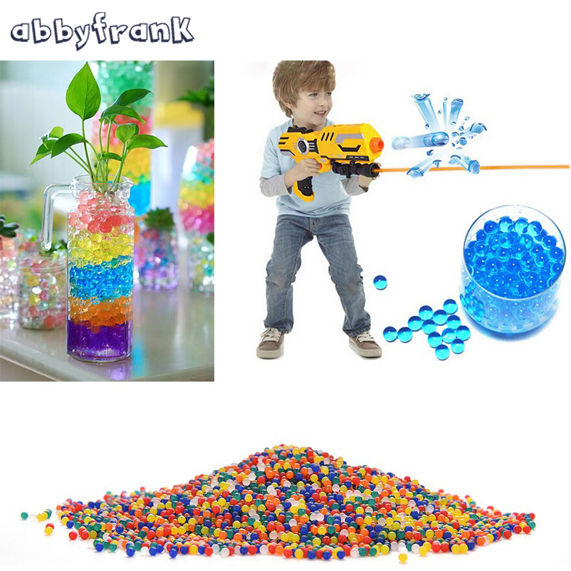 Abbyfrank 5000 Pcs Color Soft Crystal Bullet Water Gun Paintball Bullet Orbeez Gun Toy Bibulous Air Pisol For Gun Toy for Boys