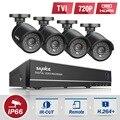 Sannce 1080n 4in1 hd dvr 8ch cctv sistema de câmera de segurança 4 pcs 720 p câmeras de cctv kit de vigilância de vídeo em casa
