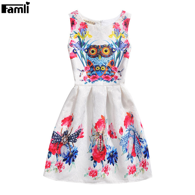 2016 Children Girls Floral Dress Summer Kids Fashion Elegant Sleeveless Flower Evening Party Princess Dresses 6 8 10 12 years