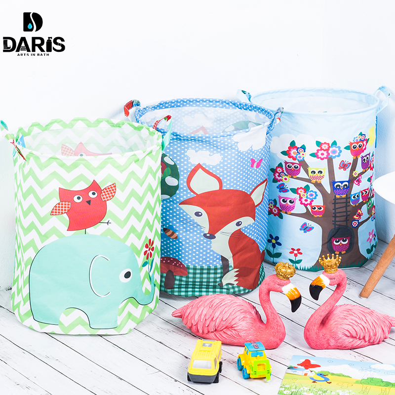 SDARISB 35*45 cm Wasserdicht Ablagekorb Tasche Spielzeug Wäschekorb Tasche Kleidung Spielzeug Aufbewahrungsbox Kleinigkeiten Stoff Folding