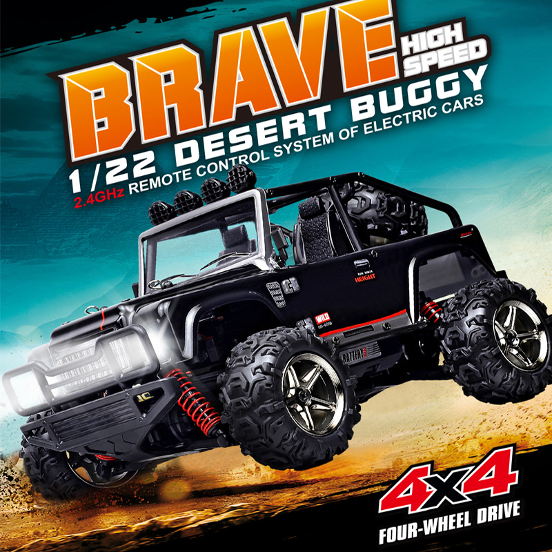 New 45KM/H RC Desert Buggy Car 1/22 4WD Proportional Mini RC Climber/Crawler Metal Chassis RC SUV Off Road Racer RC Car vs 2098B