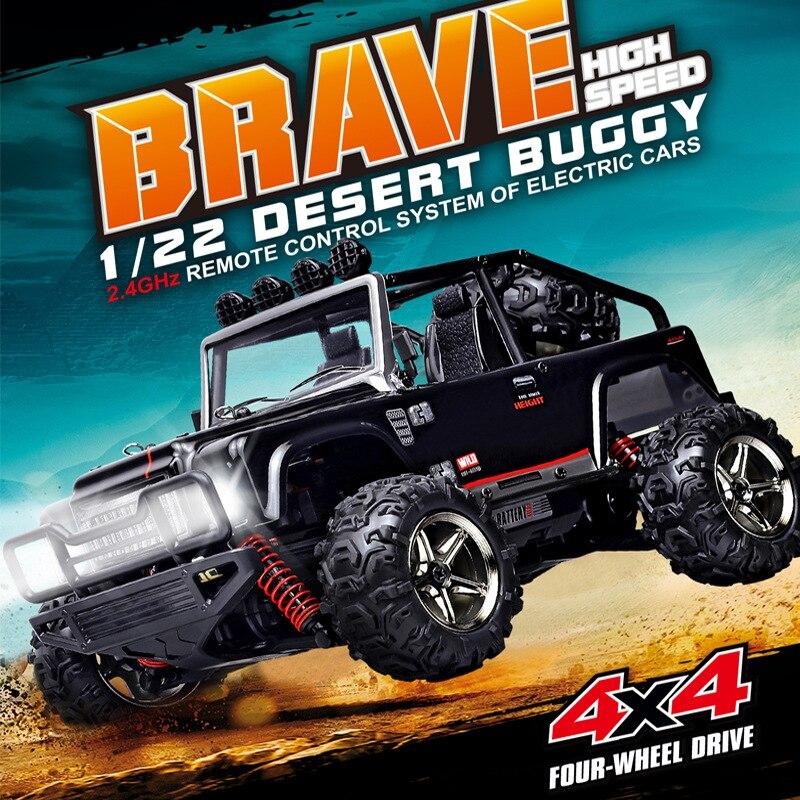 New 45KM/H RC Desert Buggy Car 1/22 4WD Proportional Mini RC Climber/Crawler Metal Chassis RC SUV Off Road Racer RC Car vs 2098B бейсболка huf metal h spray camo desert