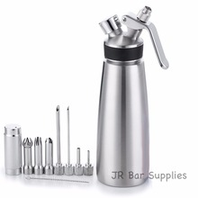 Free Shipping Whipped Cream Dispenser 100% Stainless Steel – Professional Whipper – 1 Pint Large – Gourmet Set