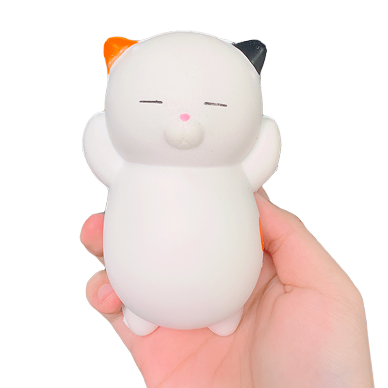 Jumbo Kawaii Cat Squishy Slow Rising Kitty Doll Soft Bread Scented Squeeze Toys Simulation Stress Relief Fun For Kid Xmas Toy