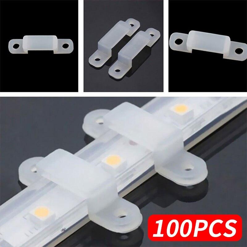 Fixer Silicon Clip Fixer Clip Soft Silicon Fastener 100pcs 5050 5630 LED Strip Light Accessory