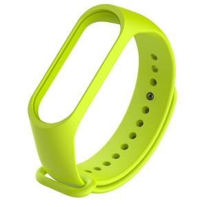 Image 4 - 1 sztuk Miband3 wymiana opaski na rękę miękki silikonowy zegarek bransoletka dla Xiaomi Mi Band 3 pasek pomarańczowy czarny czerwony