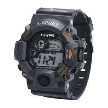 Men's Quartz Digital Sports Watches LED Military Silicone Waterproof Wristwatch  Reloj masculino  boys watch  dignity 8.30