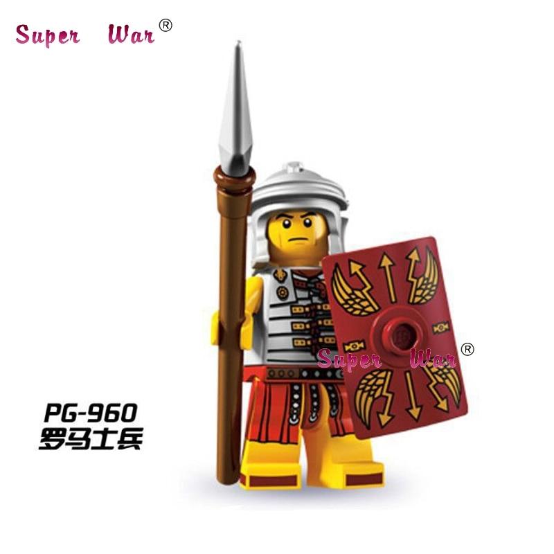 20 шт. Звездные войны супергерой римские солдаты строительные блоки кубики числа Модель Коллекция Развивающие diy детские игрушки