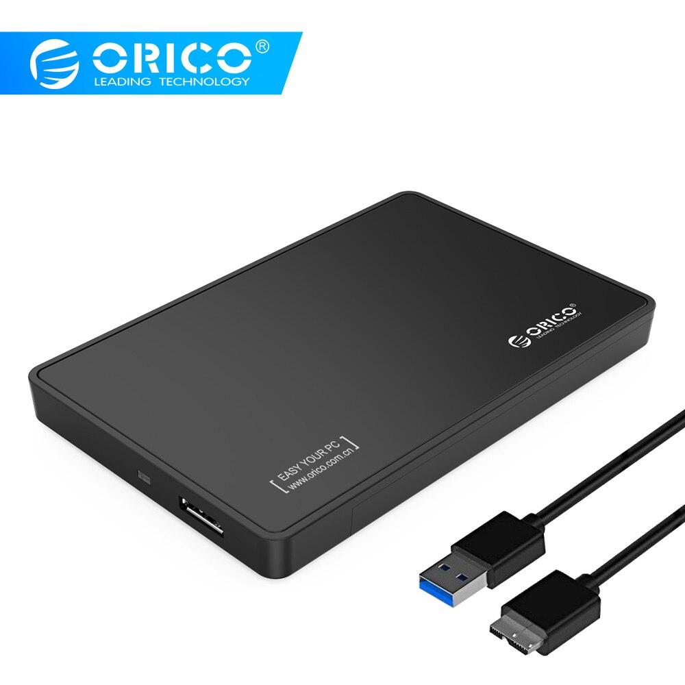 ORICO 2588US3-V1-BK 2.5 Inch SATA To USB 3.0 Tool-Free External Enclosure / Case For 9.5mm & 7mm SATA HDD SSD-Black