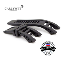 CARLYWET RU STOCK New Style Men Women Black Strap Silicone Rubber Replacement Watch Band Belt Special Popular