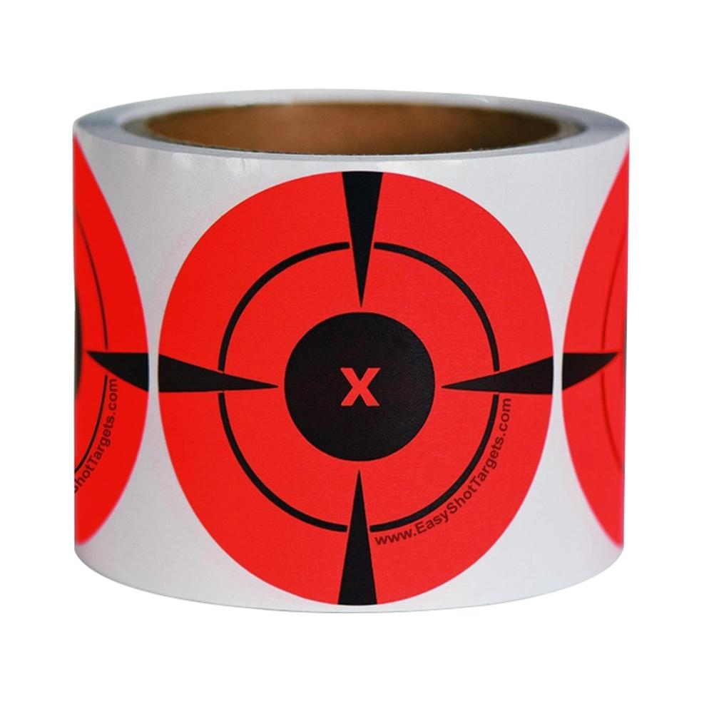 NEW 125Pcs/Roll Self-Adhesive Target Shooting Round Bullseye Fluorescent Stickers