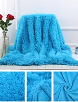 Soft Throw Blanket Long Shaggy Fuzzy BK02 Fur Faux Fur Warm Elegant Cozy With Fluffy Sherpa Plaids Adult Bedspread Sofa Blanket