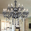 Chandelier 18 arms Modern Crystal Chandeliers Moderne Kronleuchter Aus Kristall Suppliers smoke Crystal Lamp Dining Room Lights