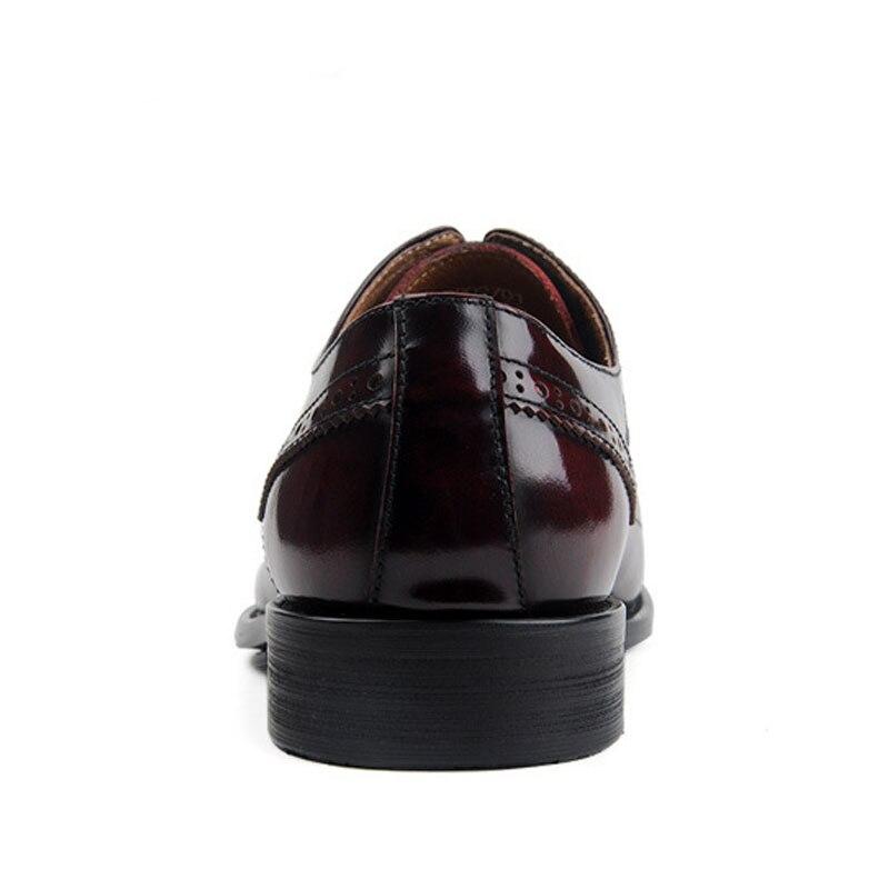 Lace Leder Top Kleid Hochzeit Schuhe Red Pointe Männer Geschäfts wine Designer Stil Up Britischen Black Brogues Formalen Atmungsaktive Geschnitzt n1v0w8WWq