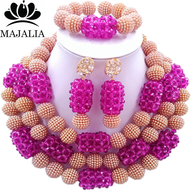 Majalia Fashion Charming Nigerian Wedding African Jewelry Set Brown and Purple Crystal Necklace Bride Jewelry Sets 3SZ053Majalia Fashion Charming Nigerian Wedding African Jewelry Set Brown and Purple Crystal Necklace Bride Jewelry Sets 3SZ053