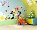 El envío libre de la historieta 3D kids ratón decoración pegatinas de pared para niños habitación 602 Bebé Nursey Tatuajes de Pared