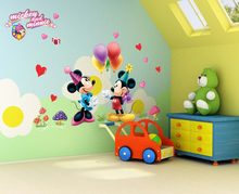 Free shipping cartoon 3D kids mouse home decor wall stickers for kids room 602 Baby Nursey Wall Decals(China)