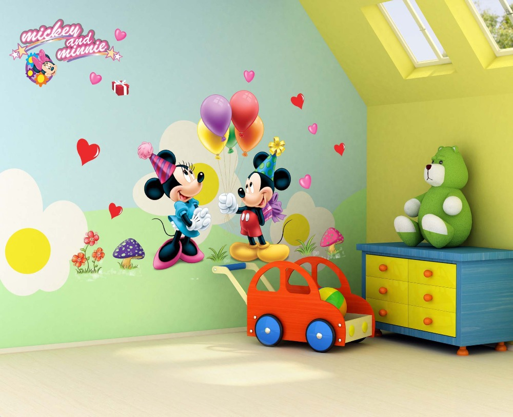 Wall stickers decoration for kids - Aliexpress Com Buy Free Shipping Cartoon 3d Kids Mouse Home Decor Wall Stickers For Kids Room 602 Baby Nursey Wall Decals From Reliable Stickers Mickey