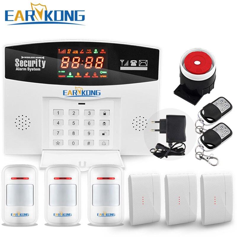 2018 Wireless Home sistema de alarma antirrobo GSM, guardia de seguridad M3D, apoyar relé domótica de Control, voz, envío libre