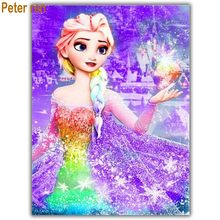 5d diy diamond painting full square ound embroidery cross stitch mosaic 3d picture home decor Sister Lotus Elsa