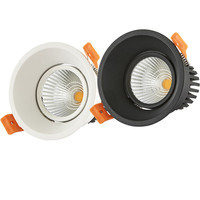 Dimmable LED Downlight 5W 7W 12W 85 265V COB LED DownLights Dimmable COB Spot Recessed Down light Light Bulb white body