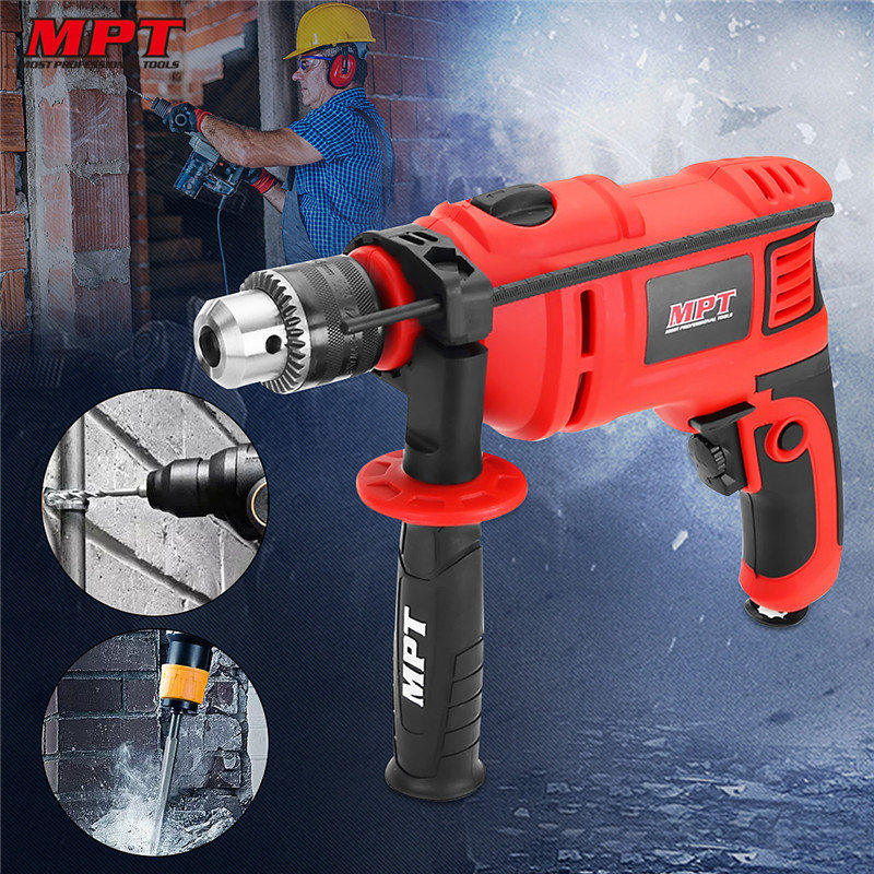 MPT MID8003 13mm 3000rpm Impact Drill Electric Hammer AC 800W Electric Drill Power Tool Woodworking Drilling Machine humidifier home mute bedroom small pregnant women high capacity air conditioning humidifier mini aromatherapy machine