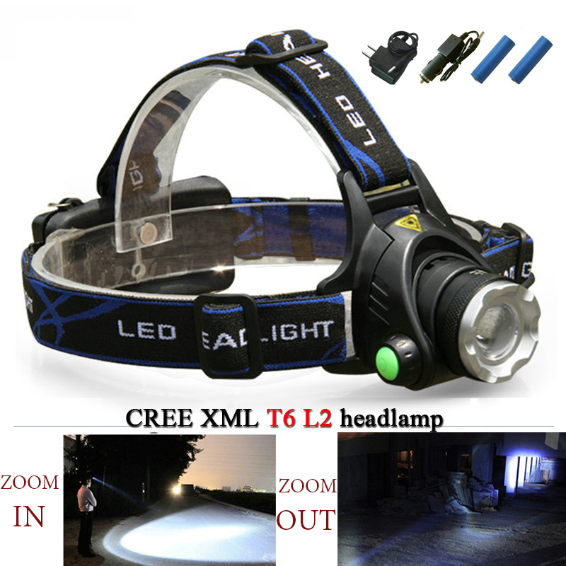 US/EU Rechargeable LED head lamp 18650 battery cree xml t6 l2 3800 lm headlamp zoomable life waterproof led head light lanterna sitemap 32 xml