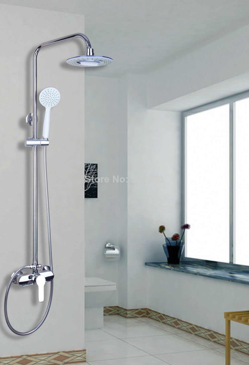 new bathroom rain shower system hand shower head tub spout setchina mainland