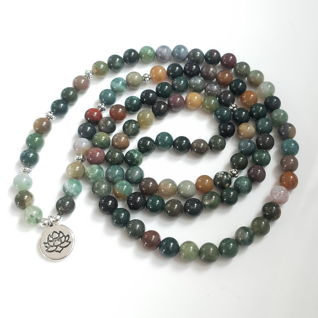 Indian Bloodstone Mala 1