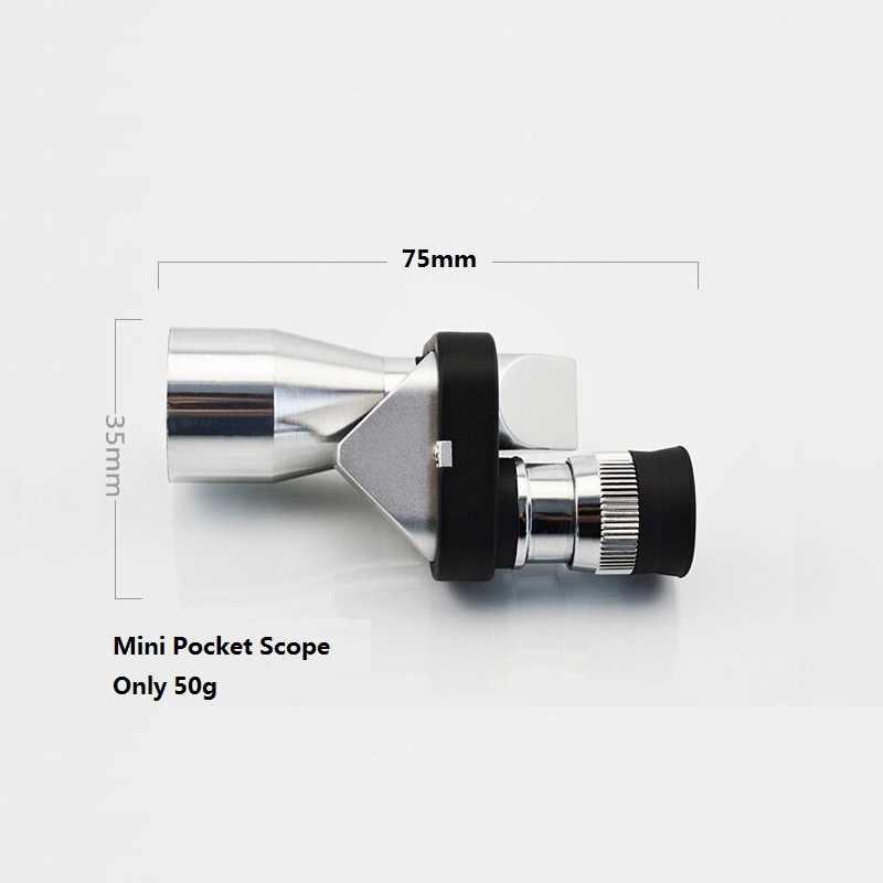 Mini telescopio Monocular de plata de 8X20mm para acampar, senderismo, senderismo, telescopio óptico Monocular de color verde al aire libre