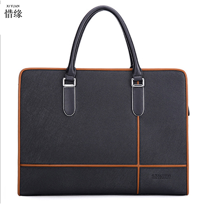 2017 High Quality Classic Leather Men Business Messenger Briefcase Casual Shoulder Crossbody Bag Black Brown for Office Staff high quality casual men bag
