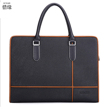 2017 High Quality Classic Leather Men Business Messenger Briefcase Casual Shoulder Crossbody Bag Black Brown for Office Staff